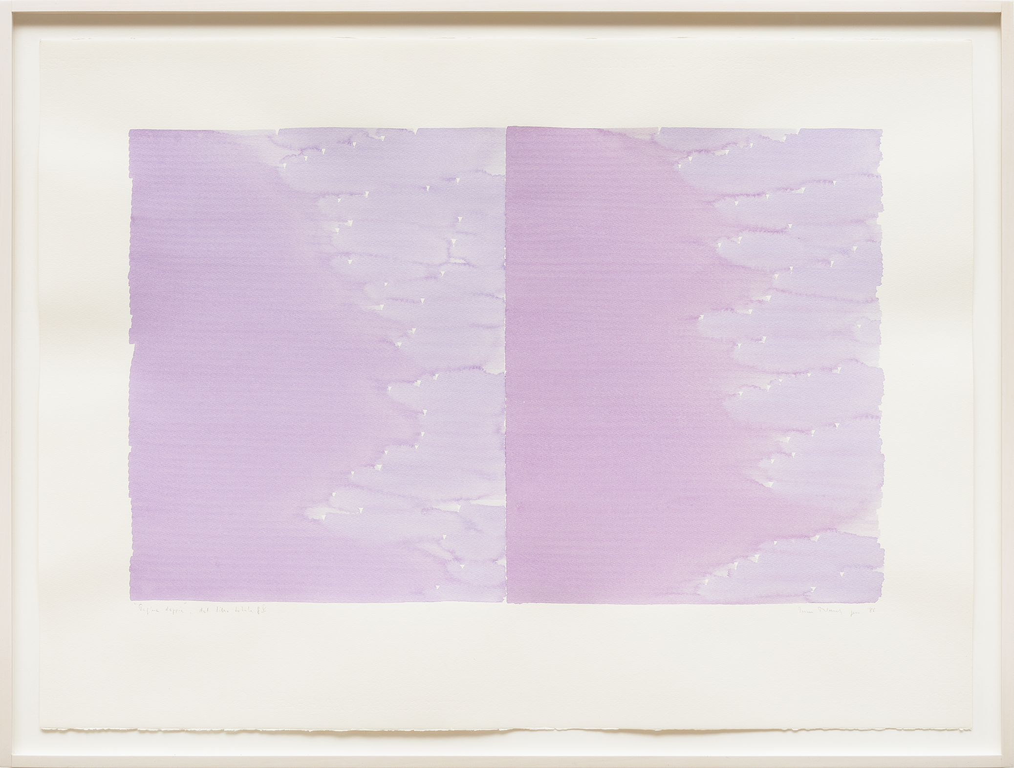 Radical Writings, Pagina doppia, dal libro totale g V, watercolor on paper, 56 x 76 cm, 1986