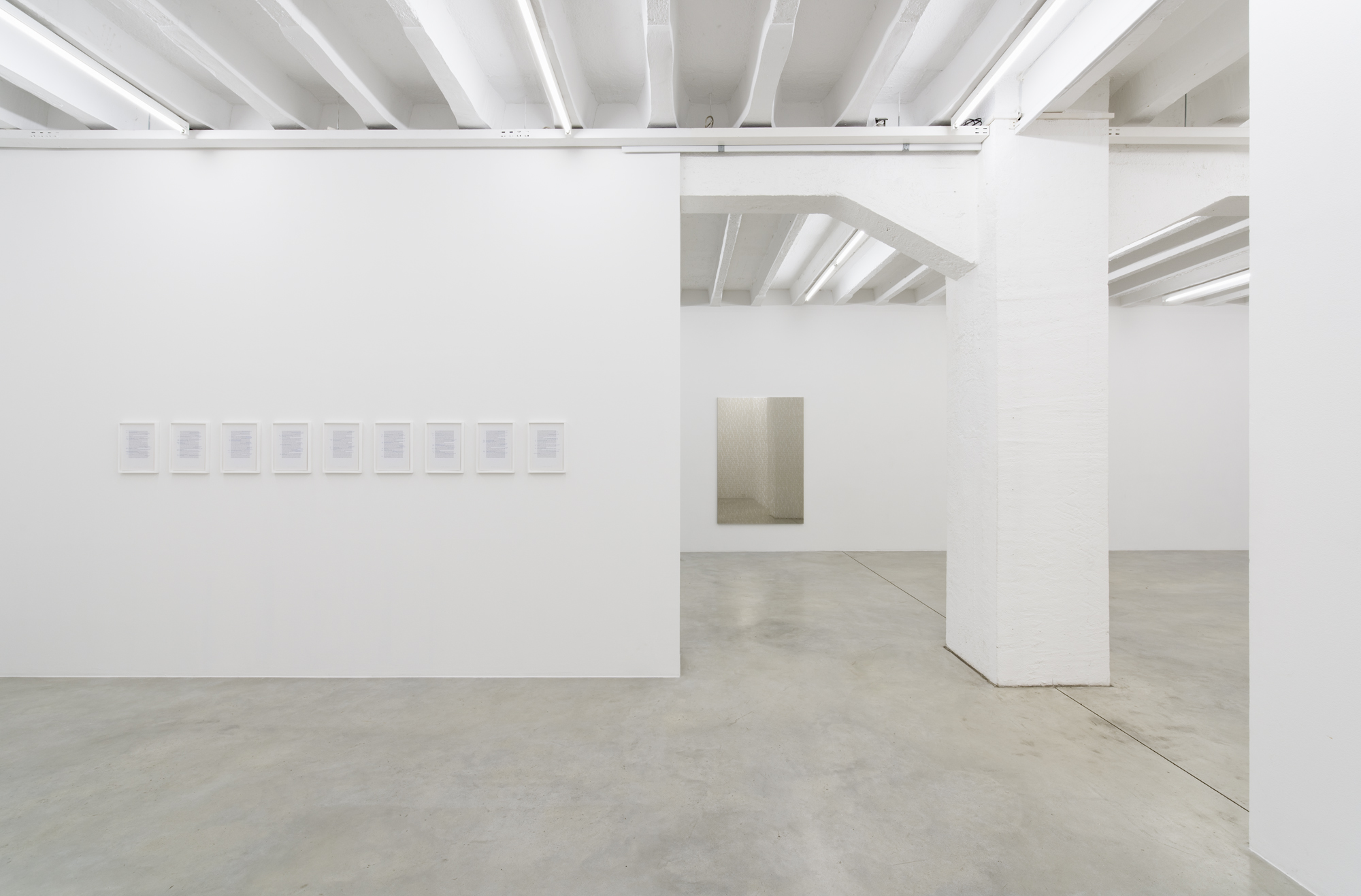 Exhibition view at Galerija Gregor Podnar, Berlin, 2017. Photo: Marcus Schneider
