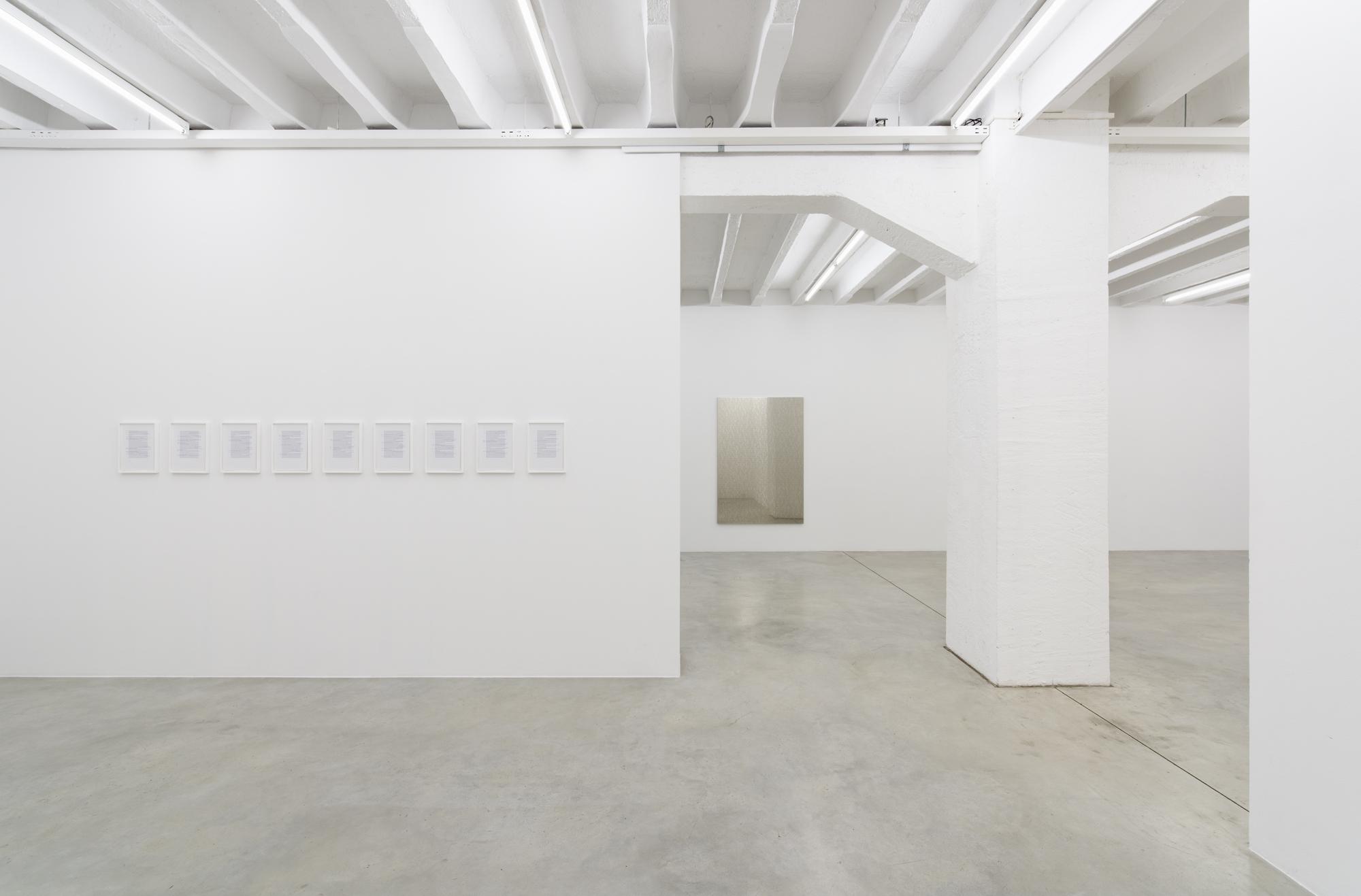 Exhibition view at Galerija Gregor Podnar, Berlin, 2017. Photo: Marcus Schneider