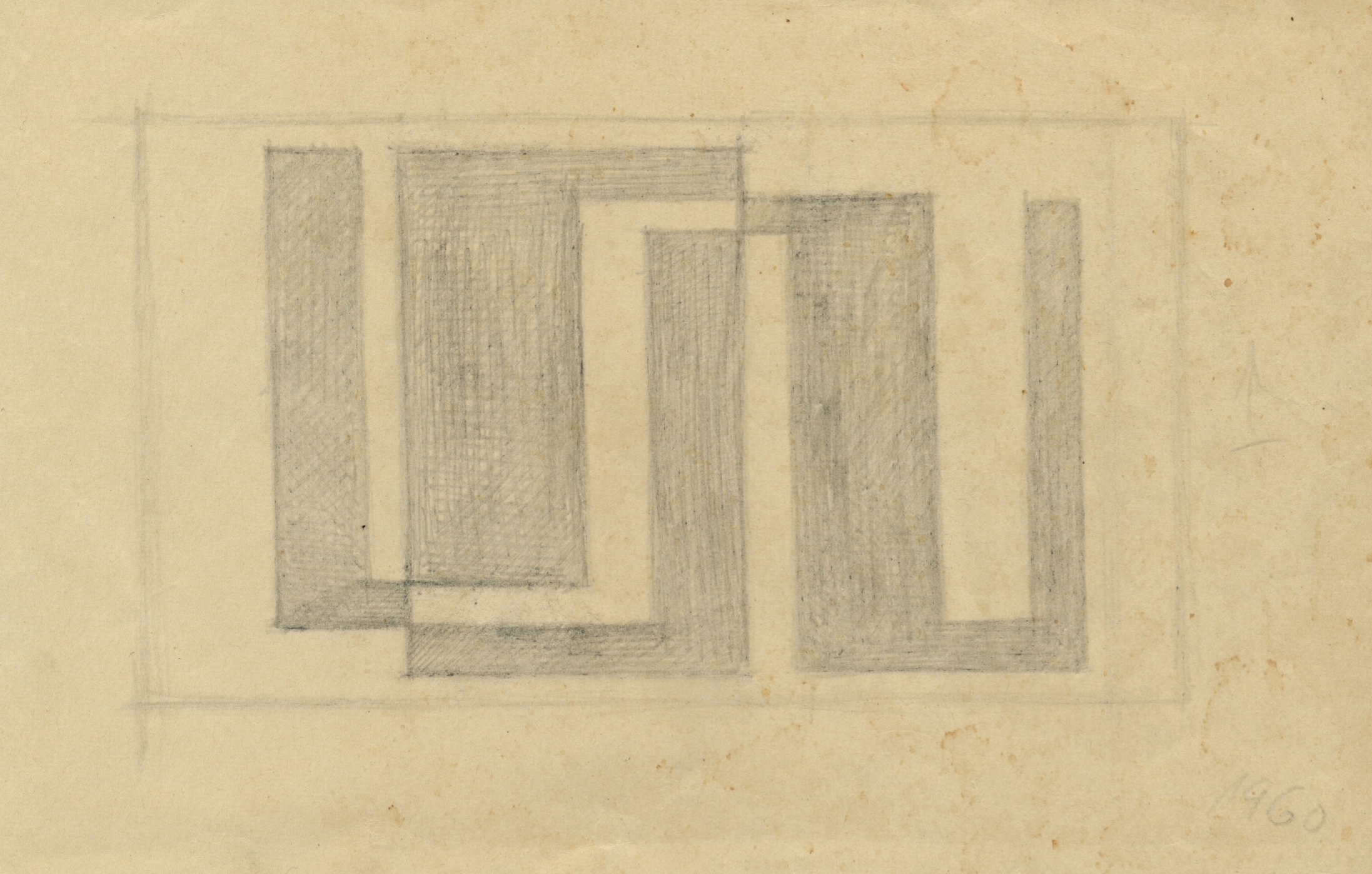 Untitled, pencil on paper, 12 x 19 cm, 1960