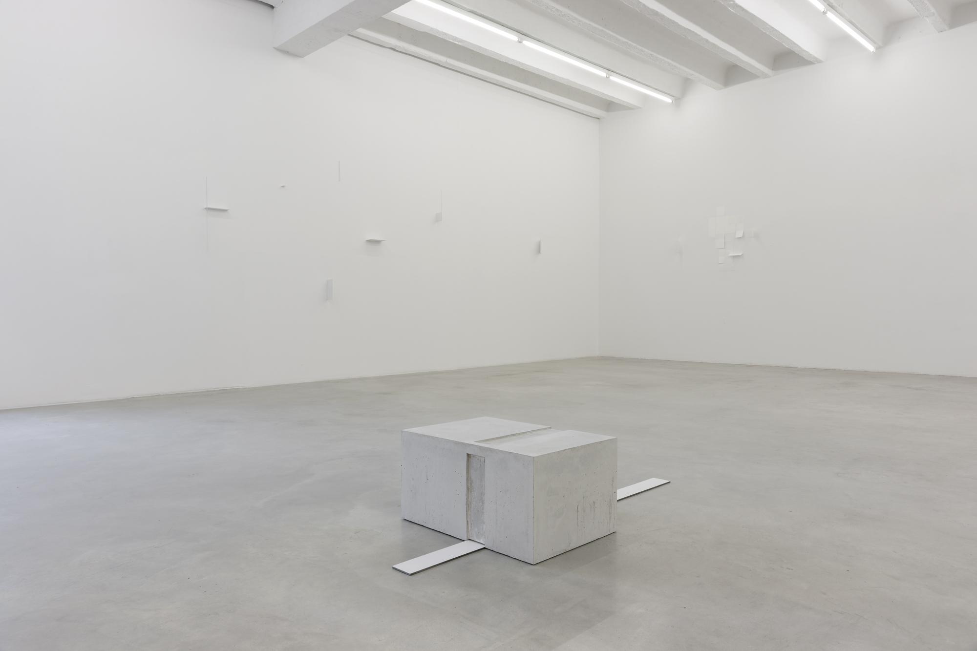 Marcius Galan, Fernanda Gomes, Goran Petercol: Site, Specific, Objects, exhibition view, Galerija Gregor Podnar, Berlin, 2015. Photo: Marcus Schneider