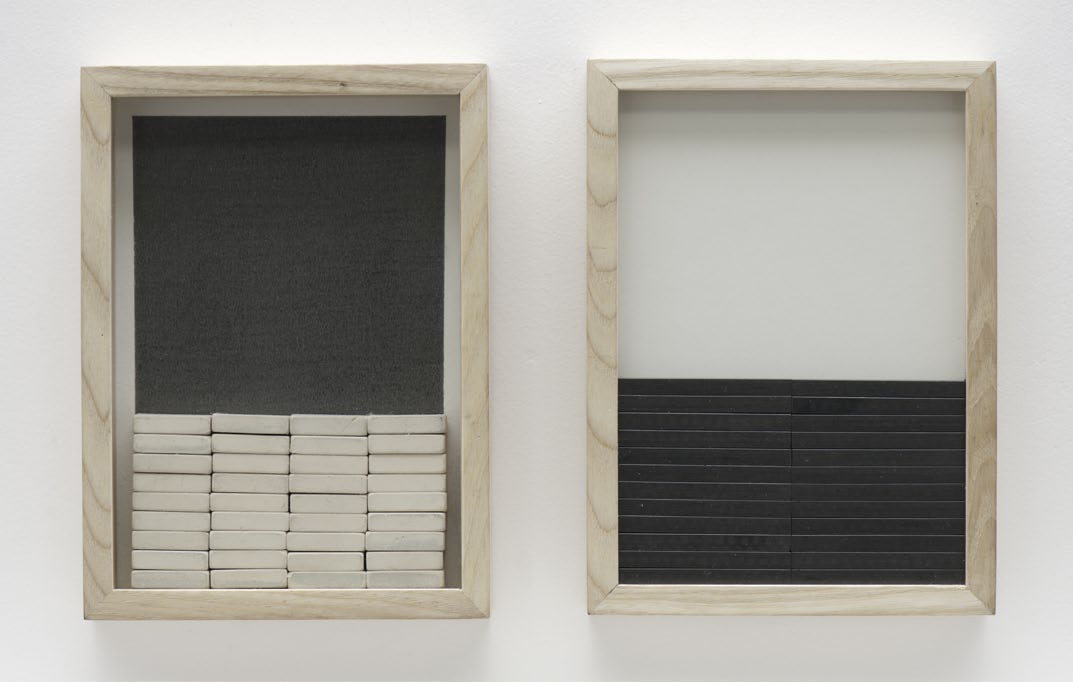 Instable Abstraction, graphite, eraser, paper on wooden frame, 17 x 30 cm, 2012
