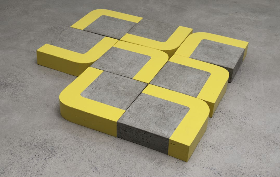 Common Area, concrete and enamel paint, 13 x 160 x 150 cm, 2008