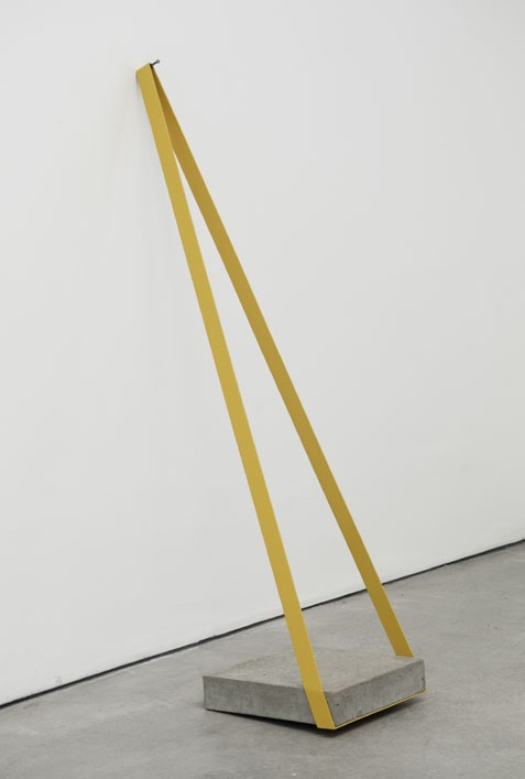 Isolating (Tense), nail, concrete, iron and enamel paint, 160 x 40 x 80 cm, 2008