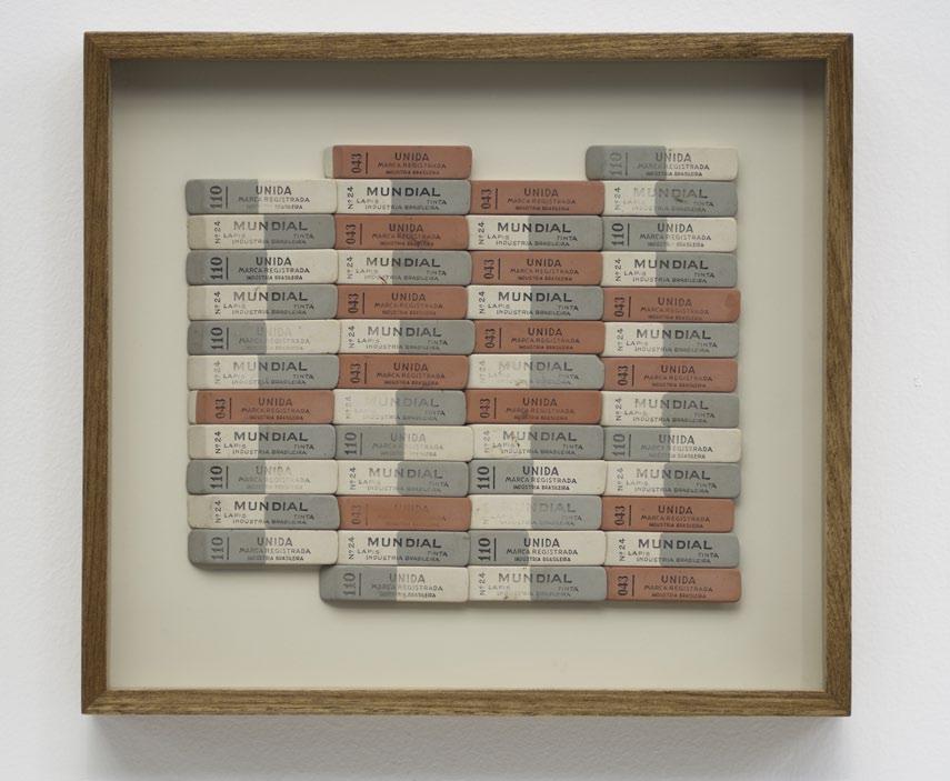 Unida Mundial, erasers on formica, 31 x 35 x 5 cm, 2012