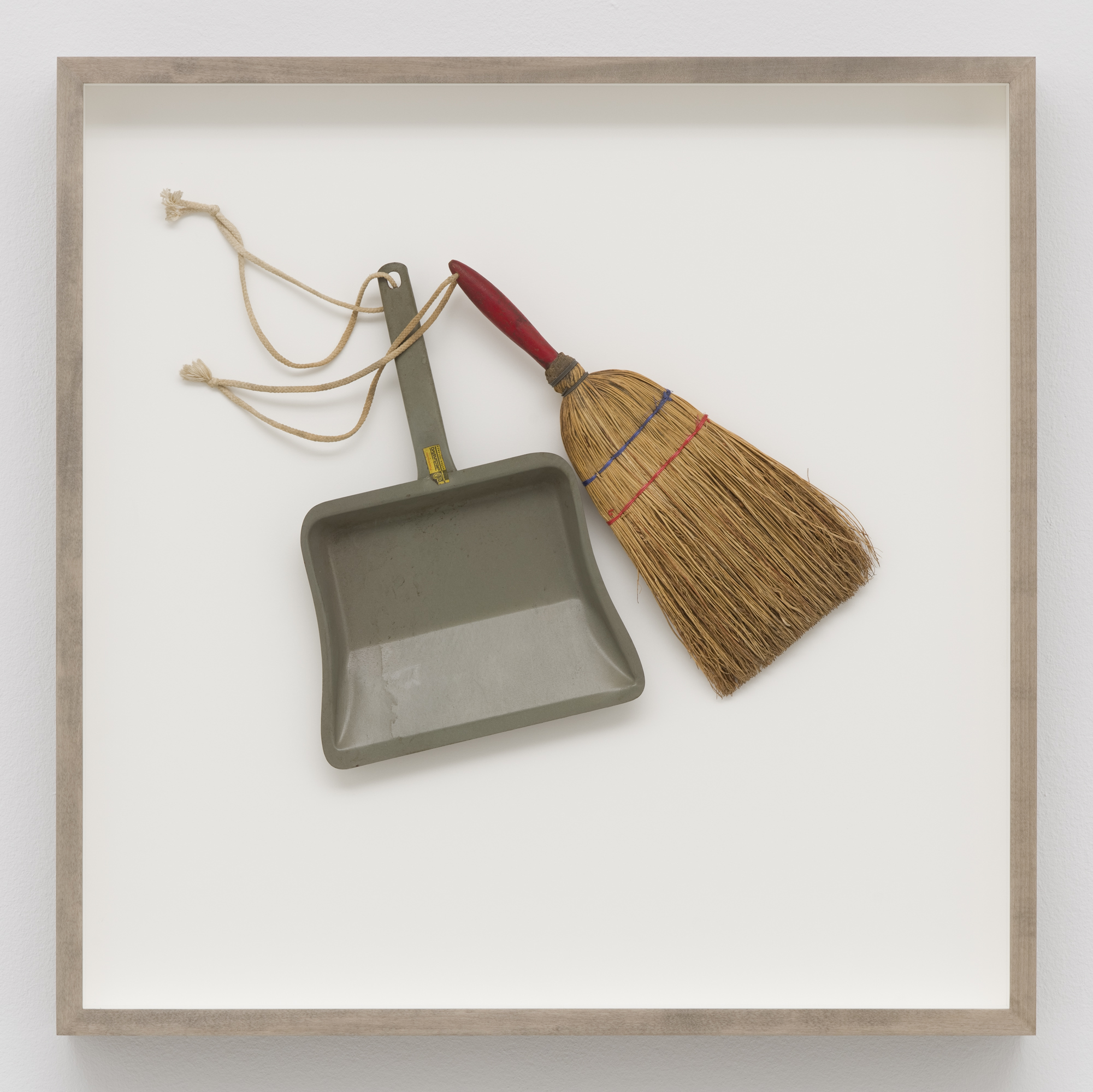 Cleaning of Public Spaces, artefact from the performance, broom with dustpan, 1981