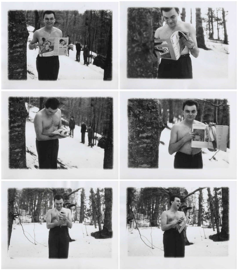Showing Elle, six b/w photographs, 18 x 24 cm each, 1962