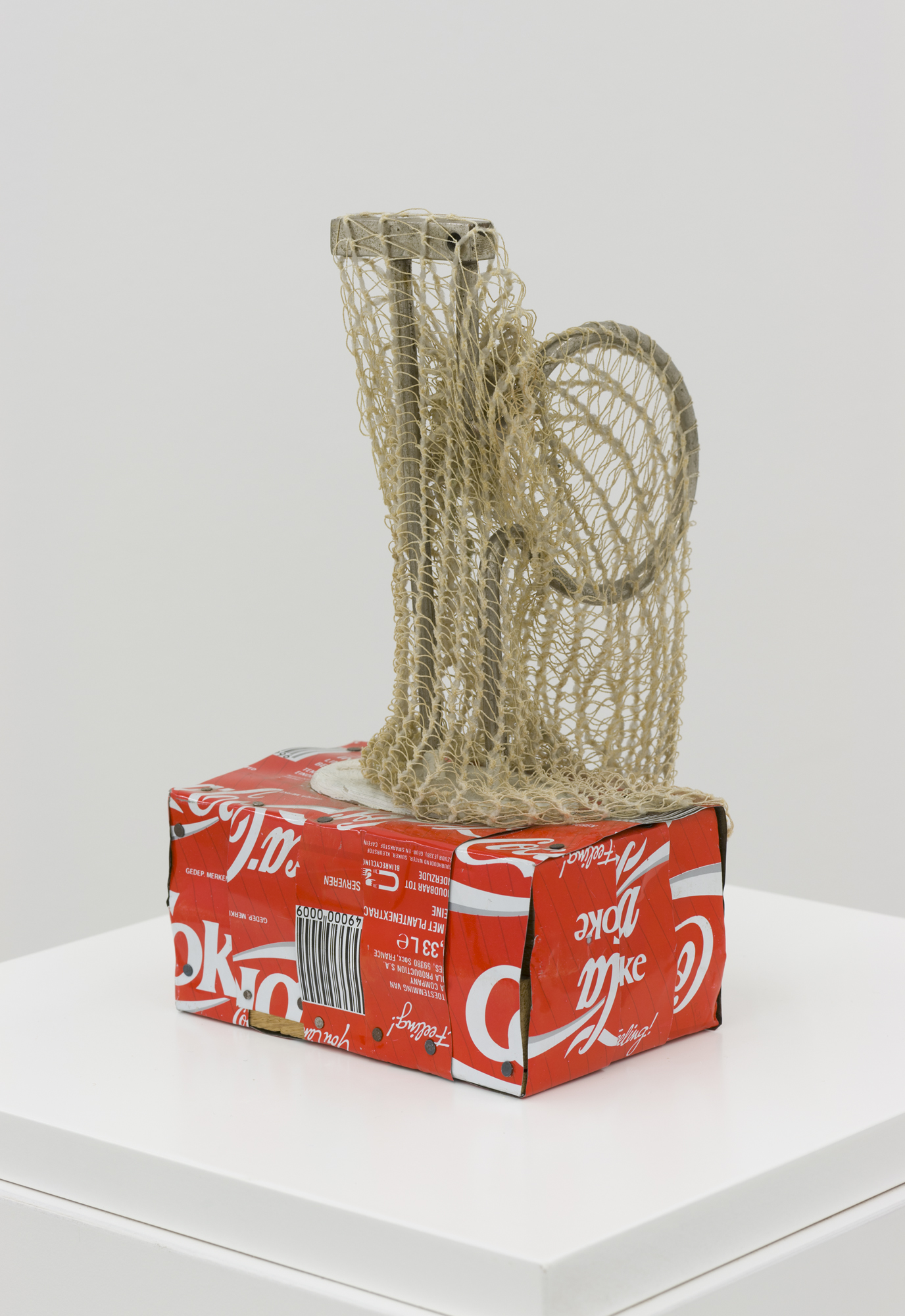 Untitled (Object 3), wood, glue, metal, bandage, 22 x 13 x 13.5 cm, 1985