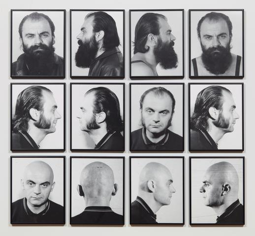 Heads, twelve b/w photographs, 30 x 24 cm each, 1970