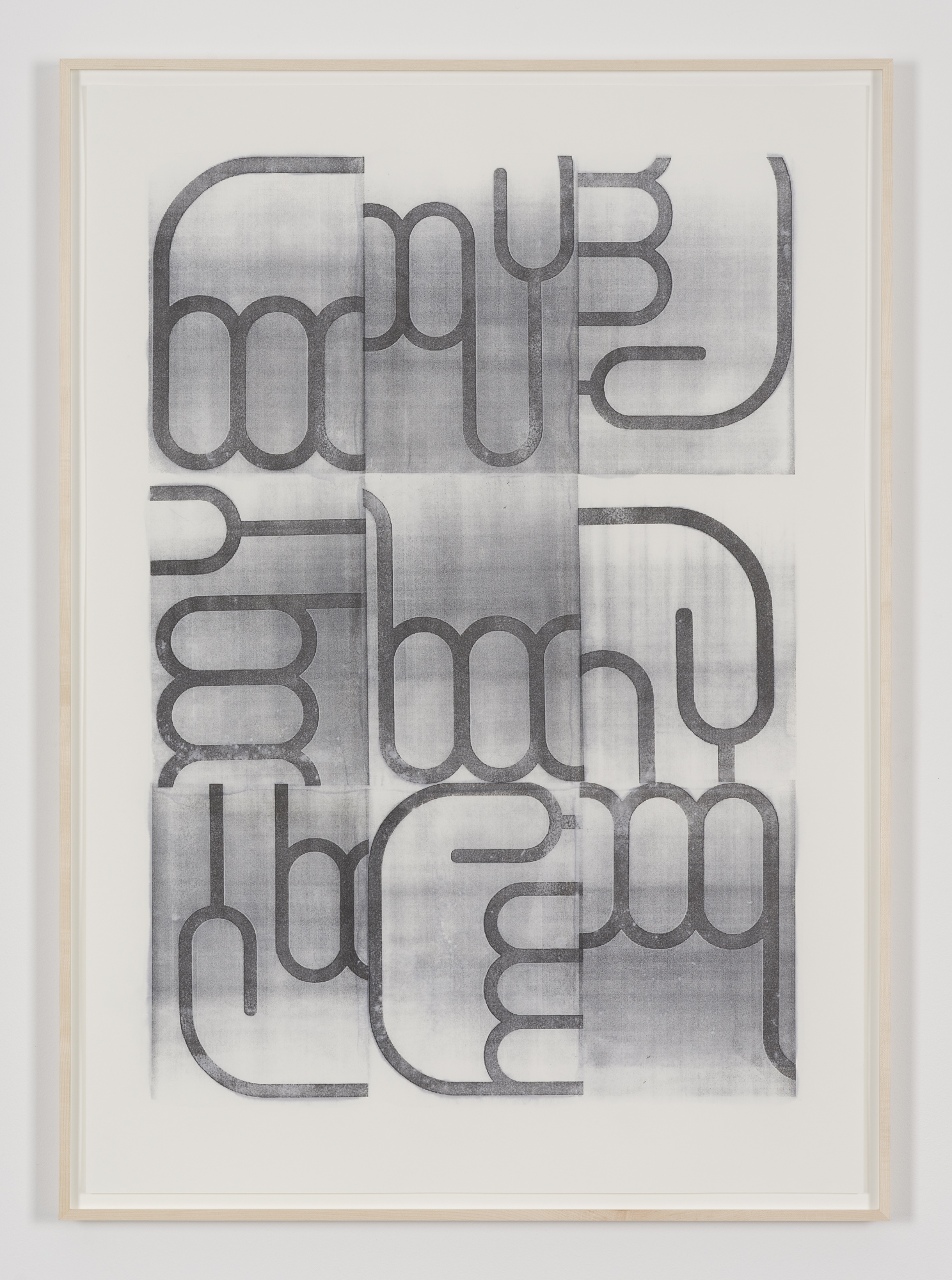Untitled (Transfer No. 1), acetone transfer on paper, 100 x 70 cm, 2015