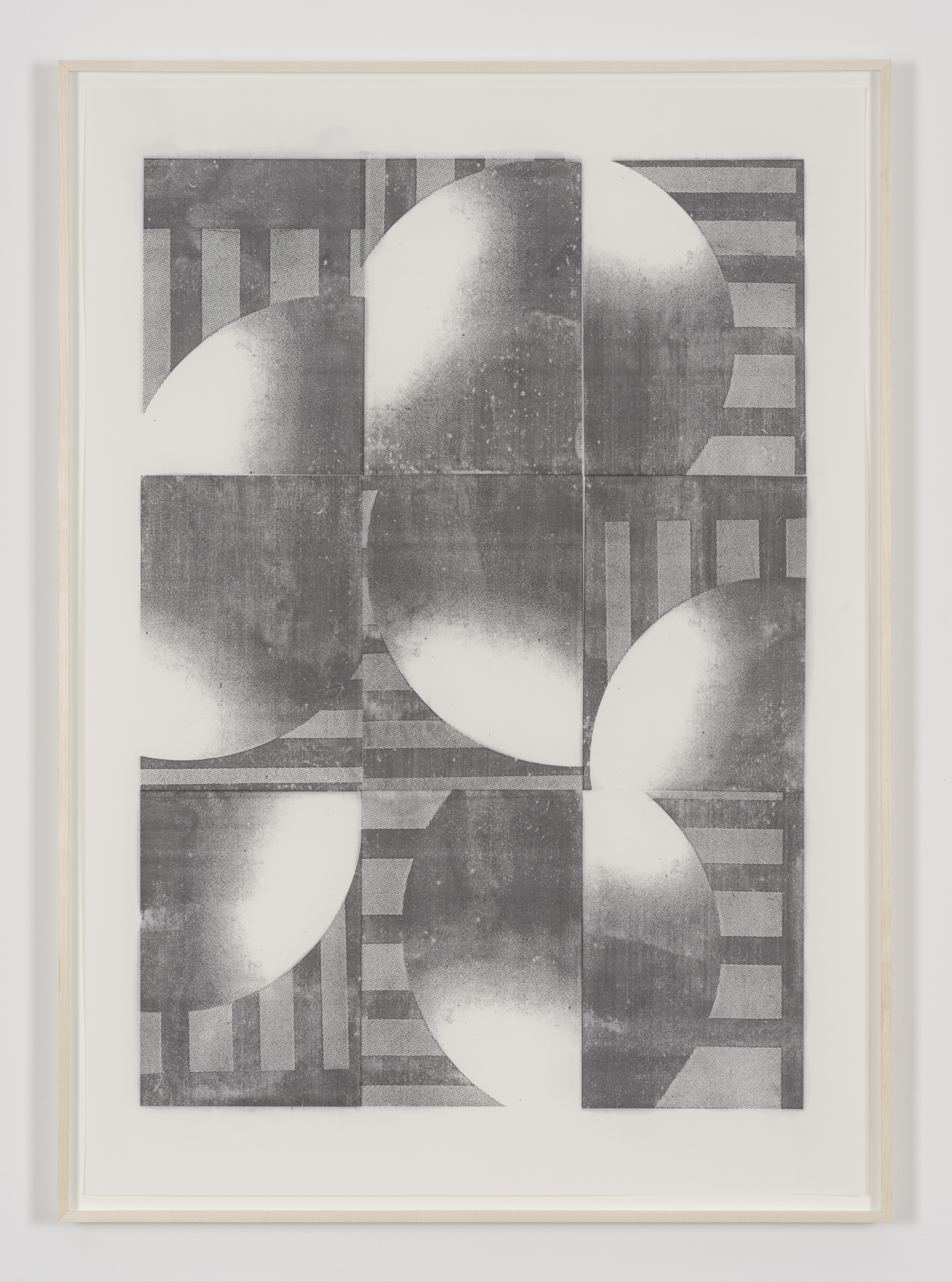 Untitled (Transfer No. 2), acetone transfer on paper, 100 x 70 cm, 2015
