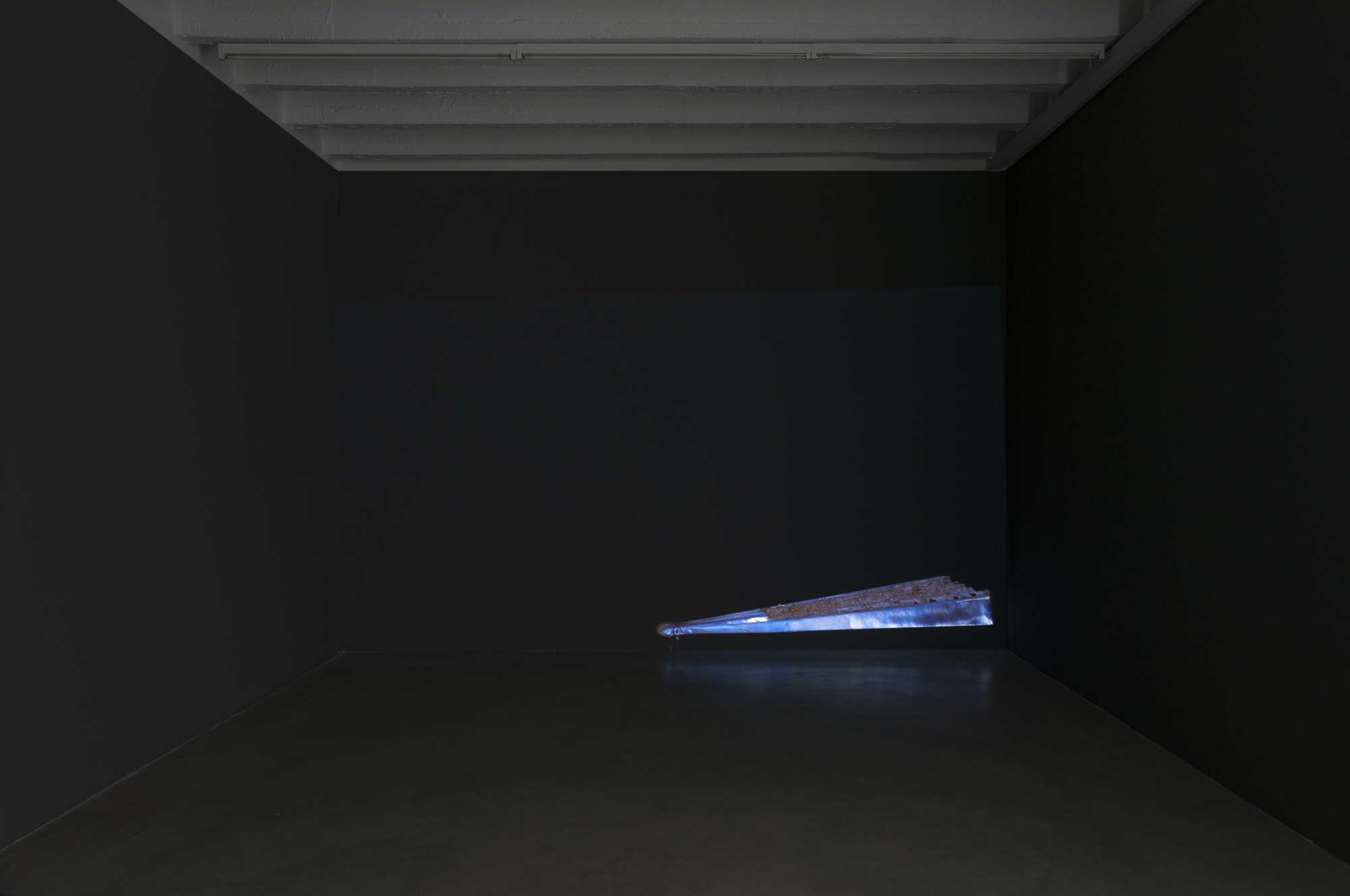Alexander Gutke, A Breeze, wall to wall projection, site-specific, variable dimensions, 2016