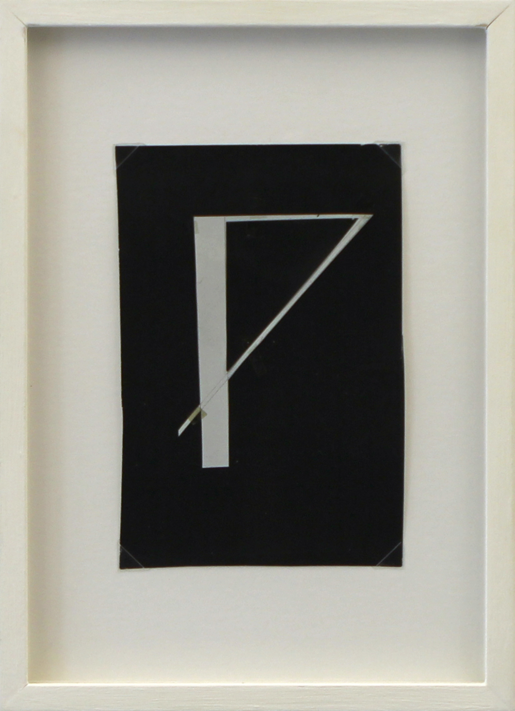 Glagolitic letter N, paper collage, 25 x 18 x 2 cm, 1970