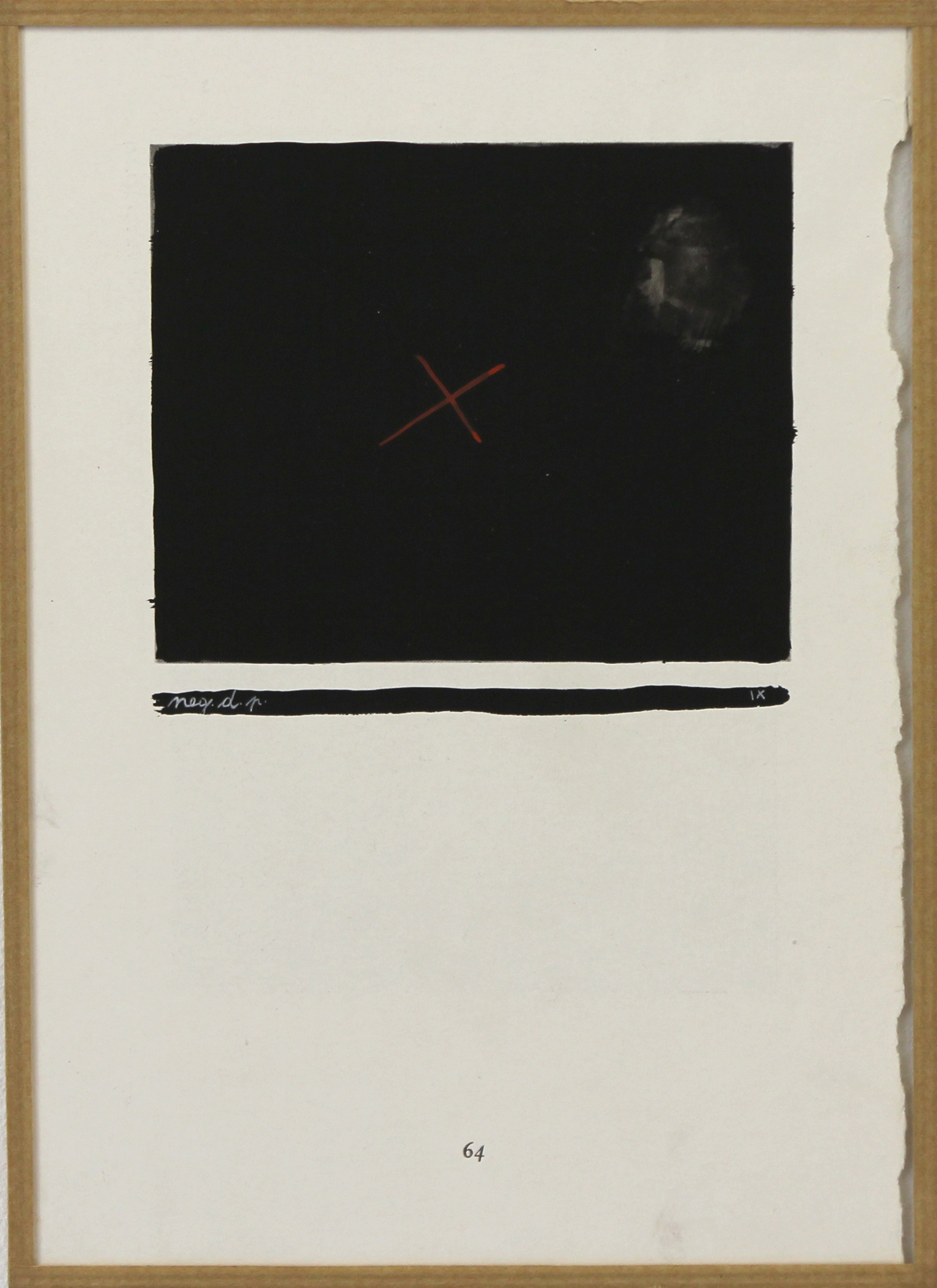 Negation de la peinture ix, m-5, tempera on printed paper, 23.7 x 16.7cm, 1951-1956