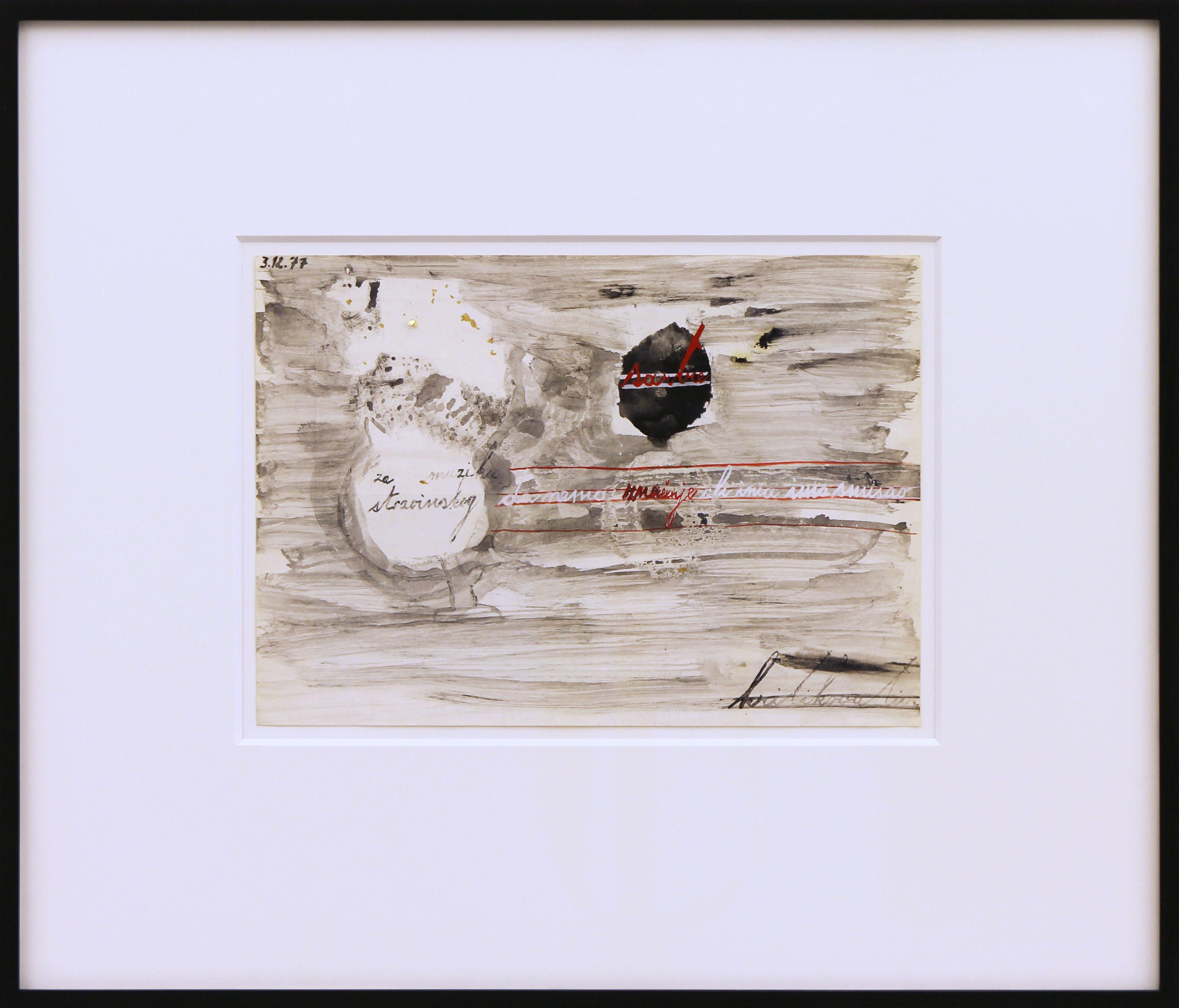 3.12.77, 36.5 x 42.5 x 3 cm, 1977
