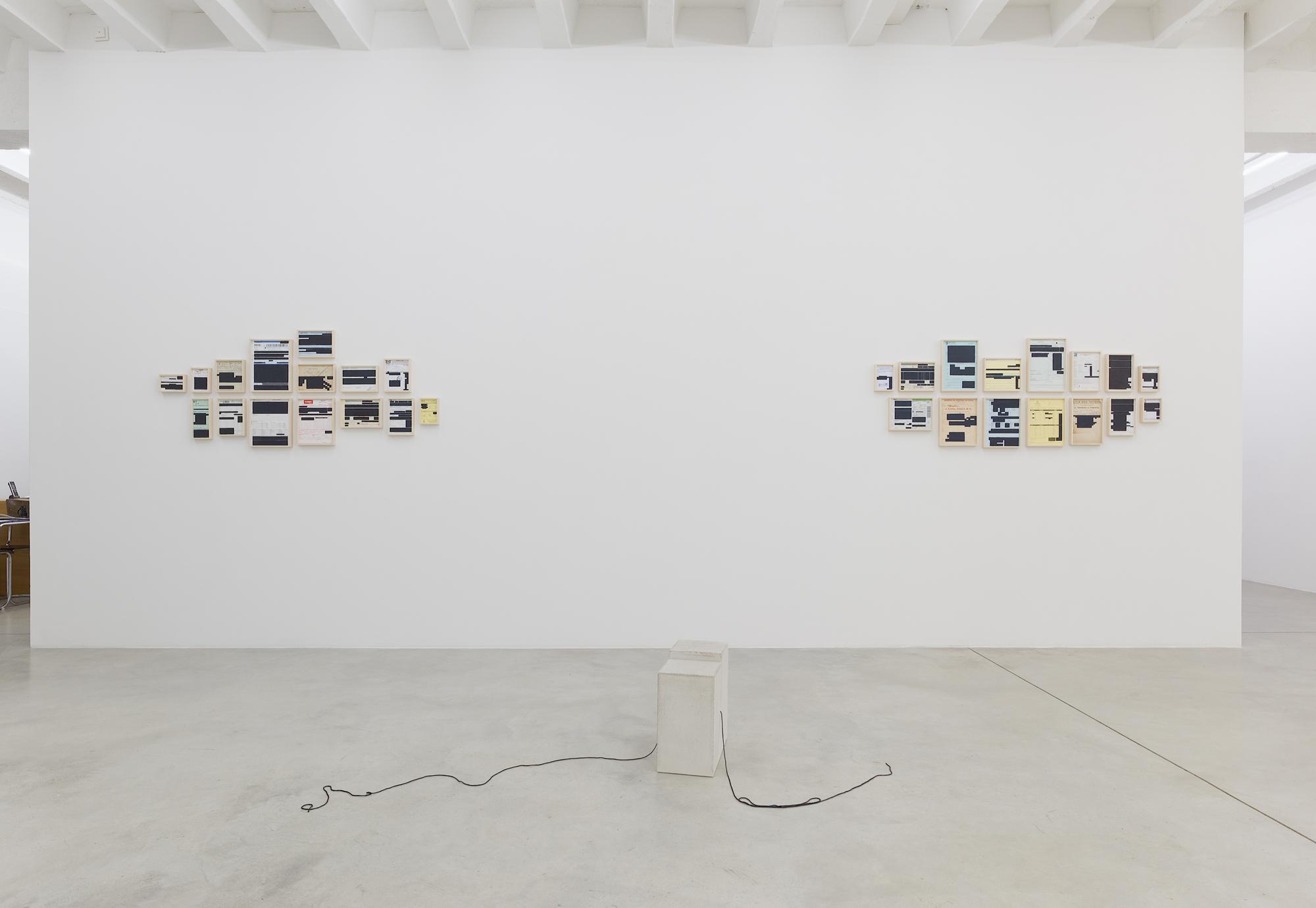 Marcius Galan, Line Weight, exhibition view, Galerija Gregor Podnar, Berlin 2017. Photo: Marcus Schneider