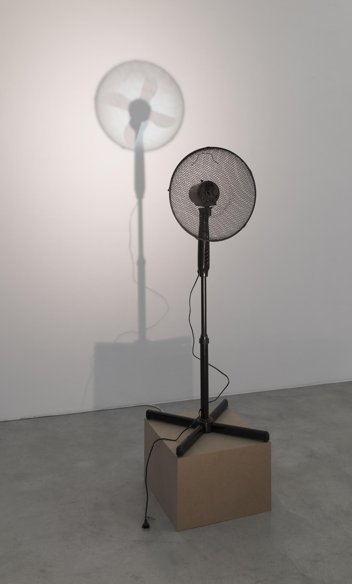 Vadim FISHKIN, Missing Part, 2016, ventilator, projector, spotlight, variable dimensions