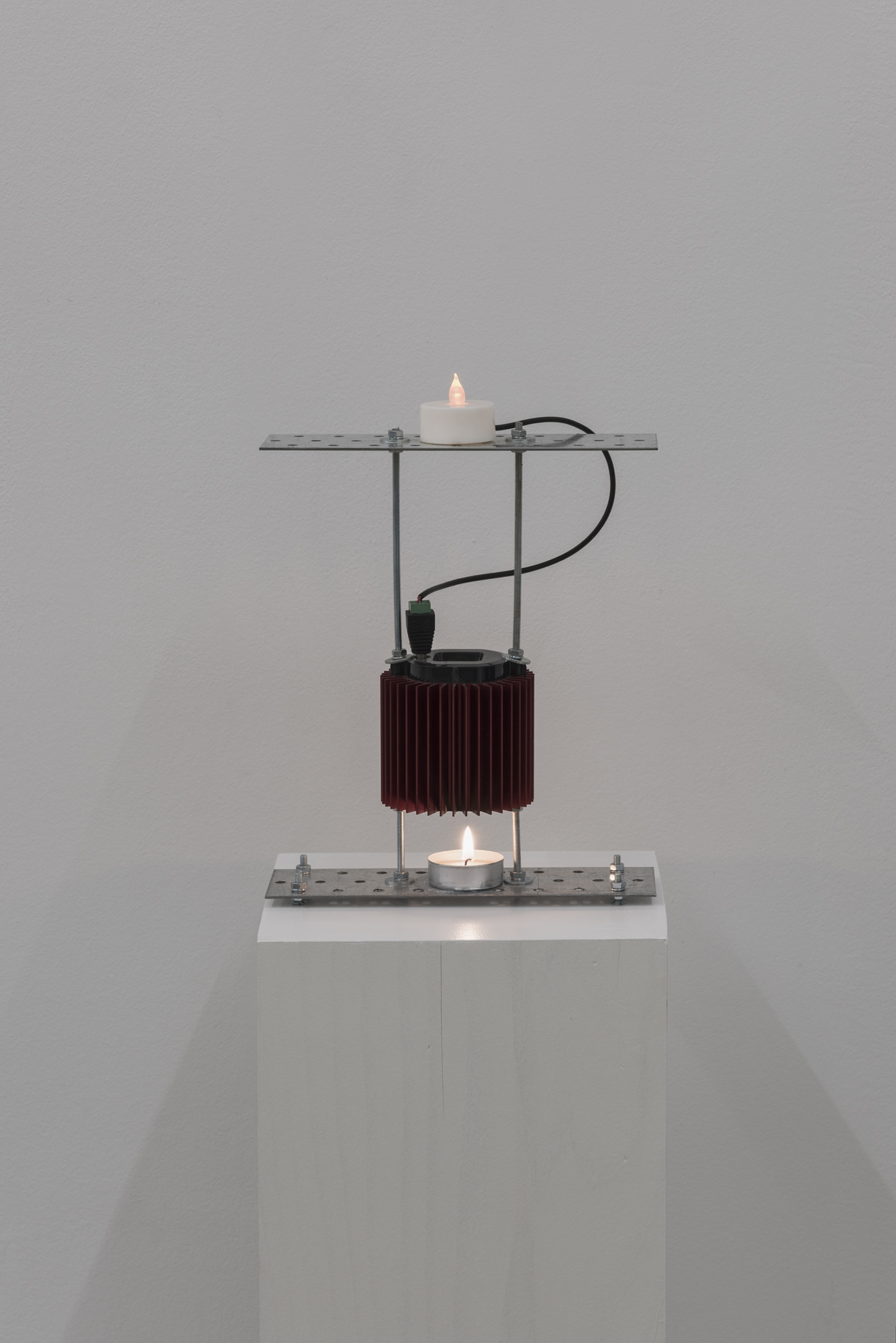 Vadim FISHKIN, Prometheus electronic (candle version), 2013, candle, thermoelectric generator, electric candle, 30 x 20 x 6 cm