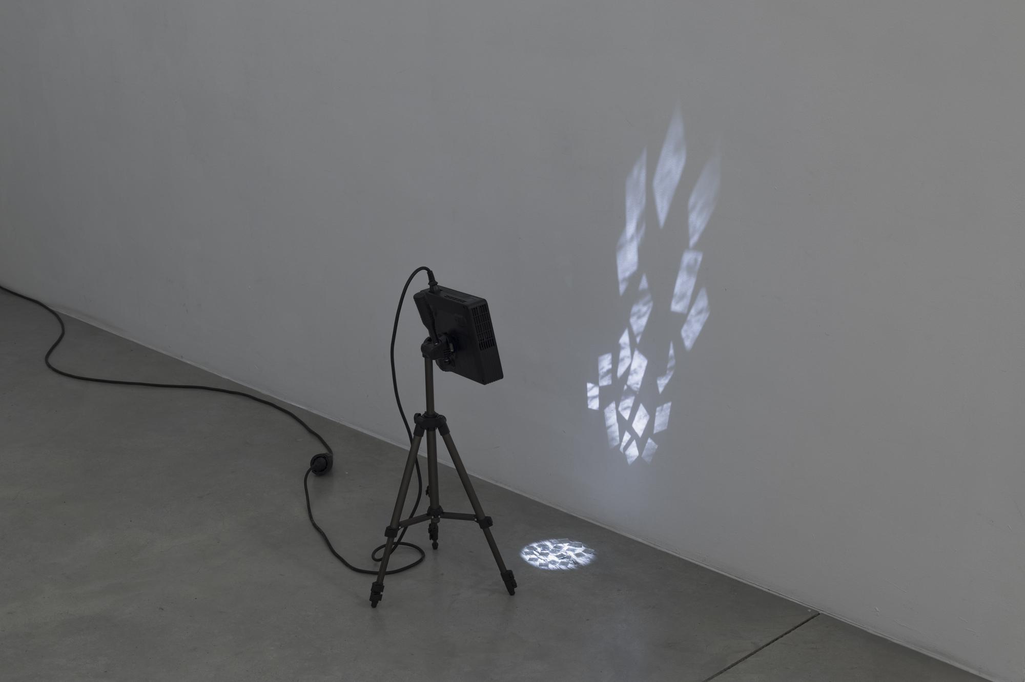 Vadim FISHKIN, Treasure Island, 2017, mirrors, projector, tripod, variable dimensions