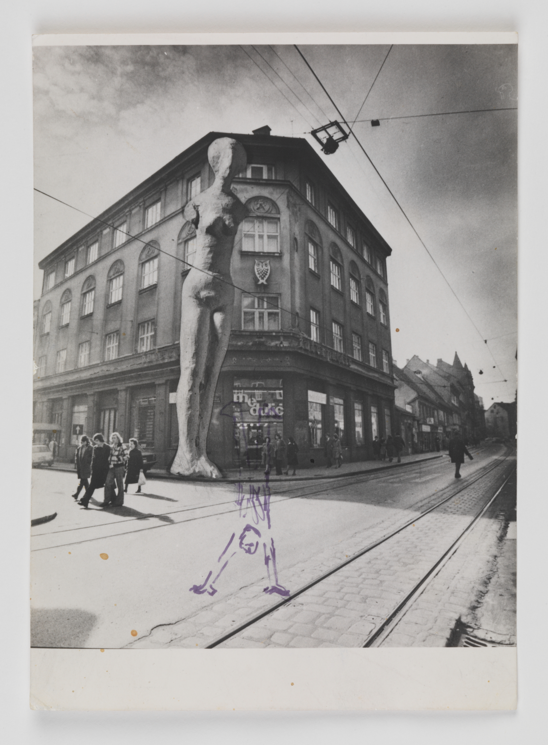 Monument to a Barmaid, collage on b/w photograph, 14 x 18 cm, 1972