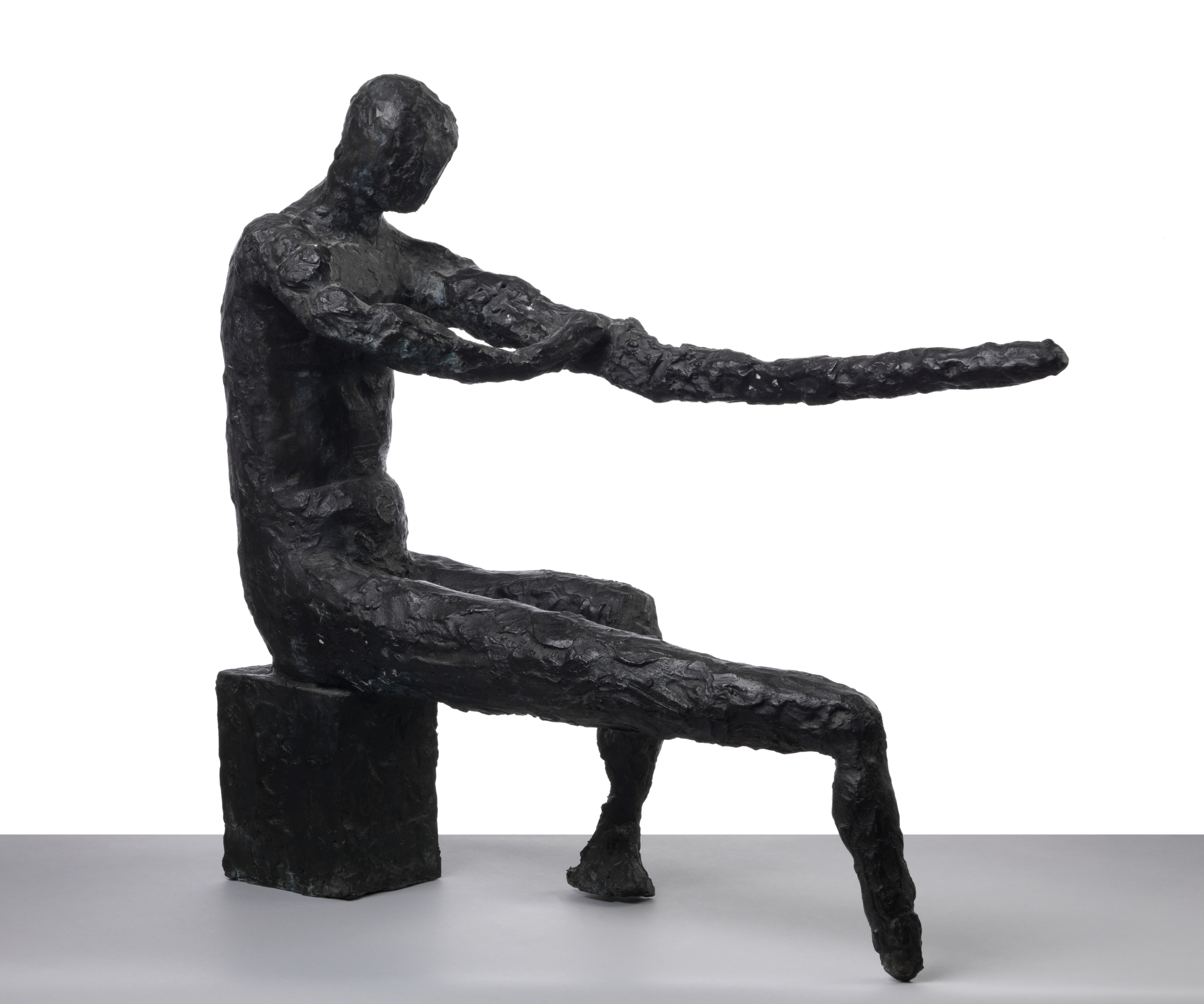 Seated Man, bronze, 61 x 23 x 65 cm, 1954-1960, cast 1960. Photo: Jaka Babnik