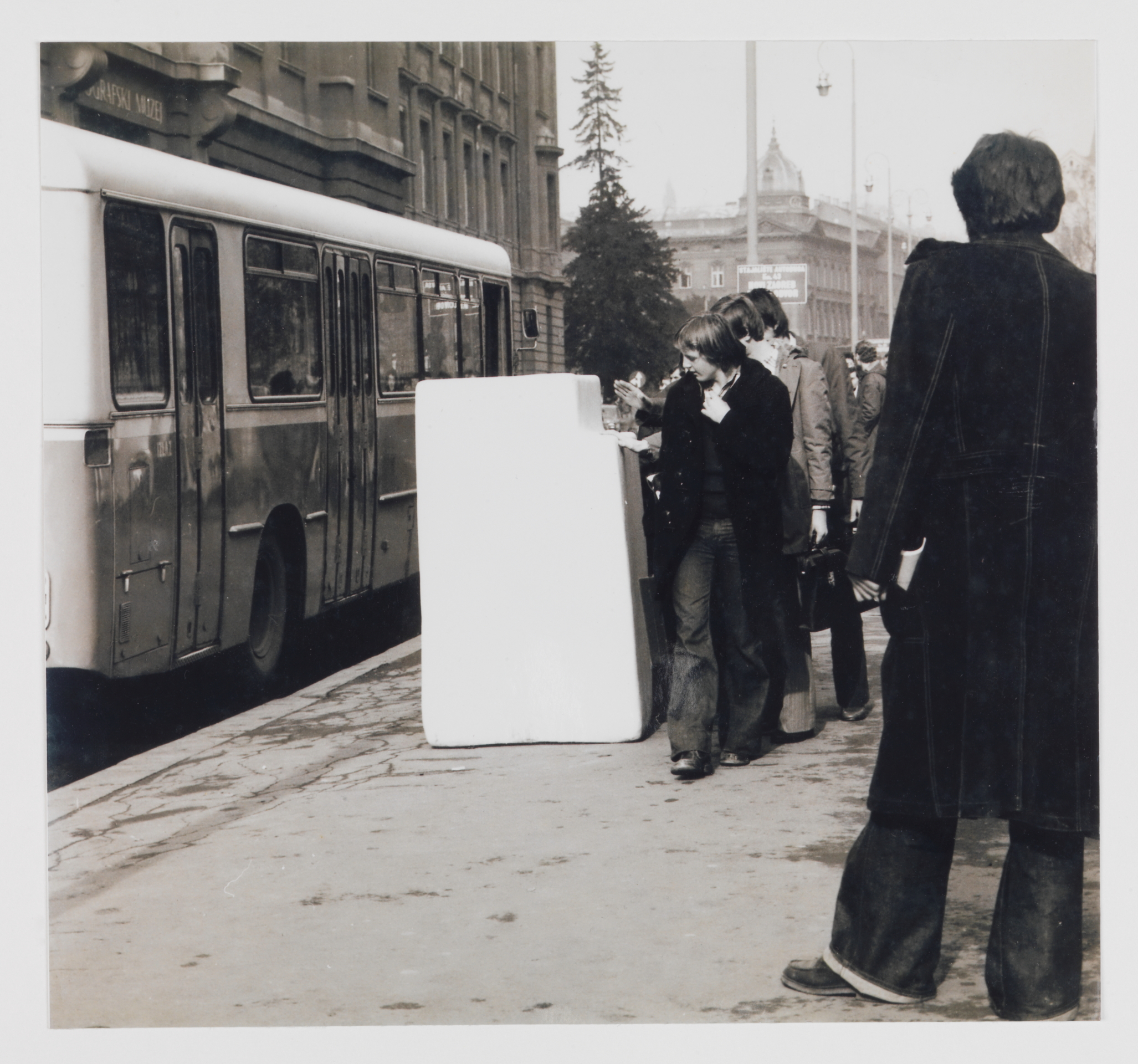 Shape of Space (Refrigerator), b/w photograph, 18.5 x 17 cm, 1975