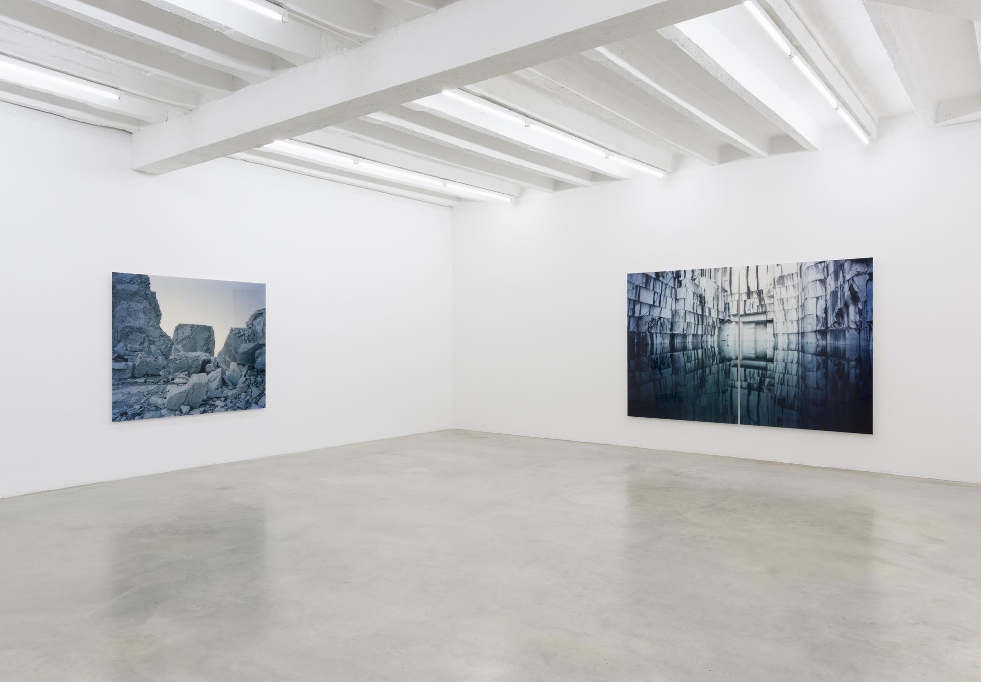 Primož Bizjak, Alpi Apuane, exhibition view, Galerija Gregor Podnar, Berlin, 2018. Photo: Marcus Schneider