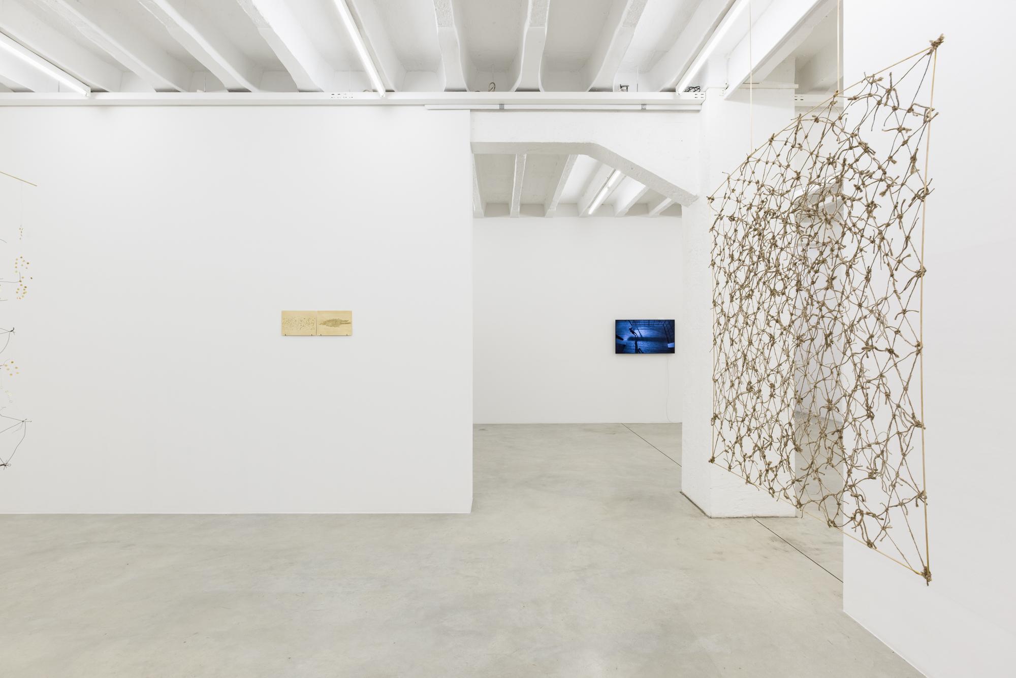 Iza Tarasewicz, Equilibrium in Meteors, exhibition view, Galerija Gregor Podnar, Berlin, 2018. Photo: Marcus Schneider