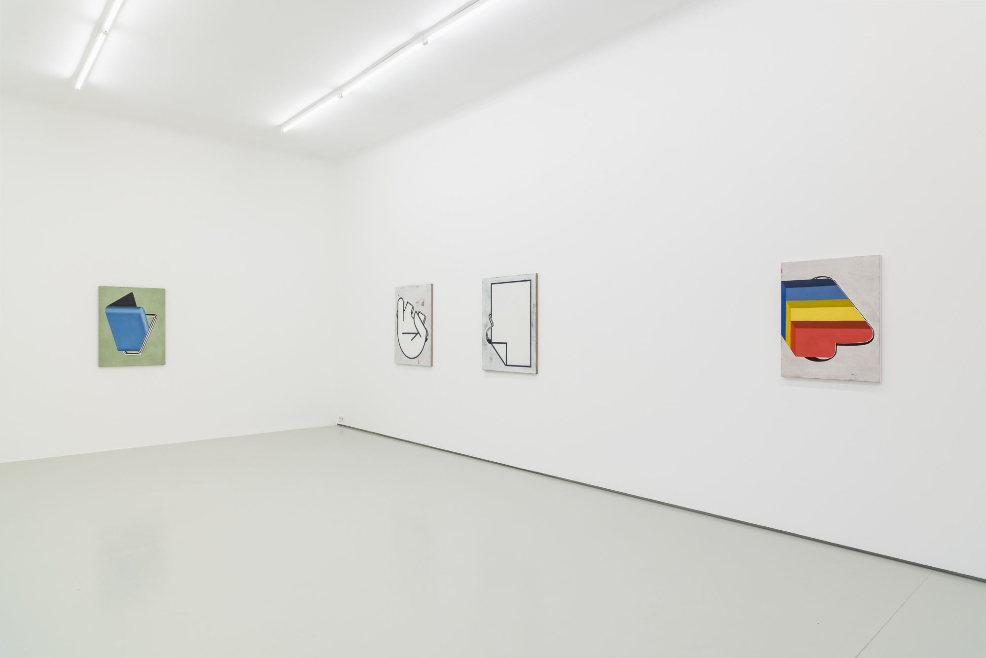 Anne Neukamp, ALT-MOA-BIT, exhibition view, Gregor Podnar, Berlin, 2019. Photo: Marcus Schneider