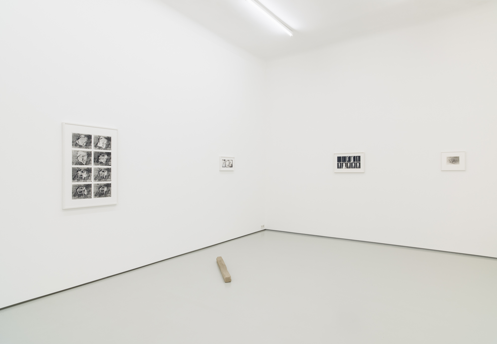 Ferenc Ficzek, Exits Left Behind, exhibition view, Gregor Podnar, Berlin, 2019. Photo: Marcus Schneider.