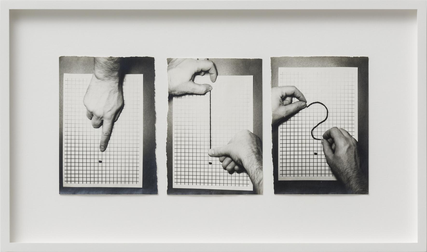 Ferenc Ficzek, Untitled I-III, 1976, series of 3 silver gelatin prints on Dokubrom paper, 27 x 45,5 cm (framed). Photo: Marcus Schneider