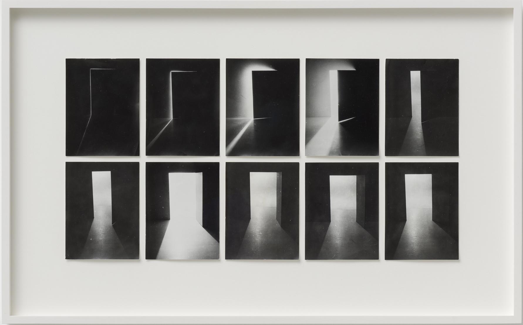 Ferenc Ficzek_Door Opening, 1975, series of 10 silver gelatin prints on paper, 39 x 62,5 cm. Photo: Marcus Schneider