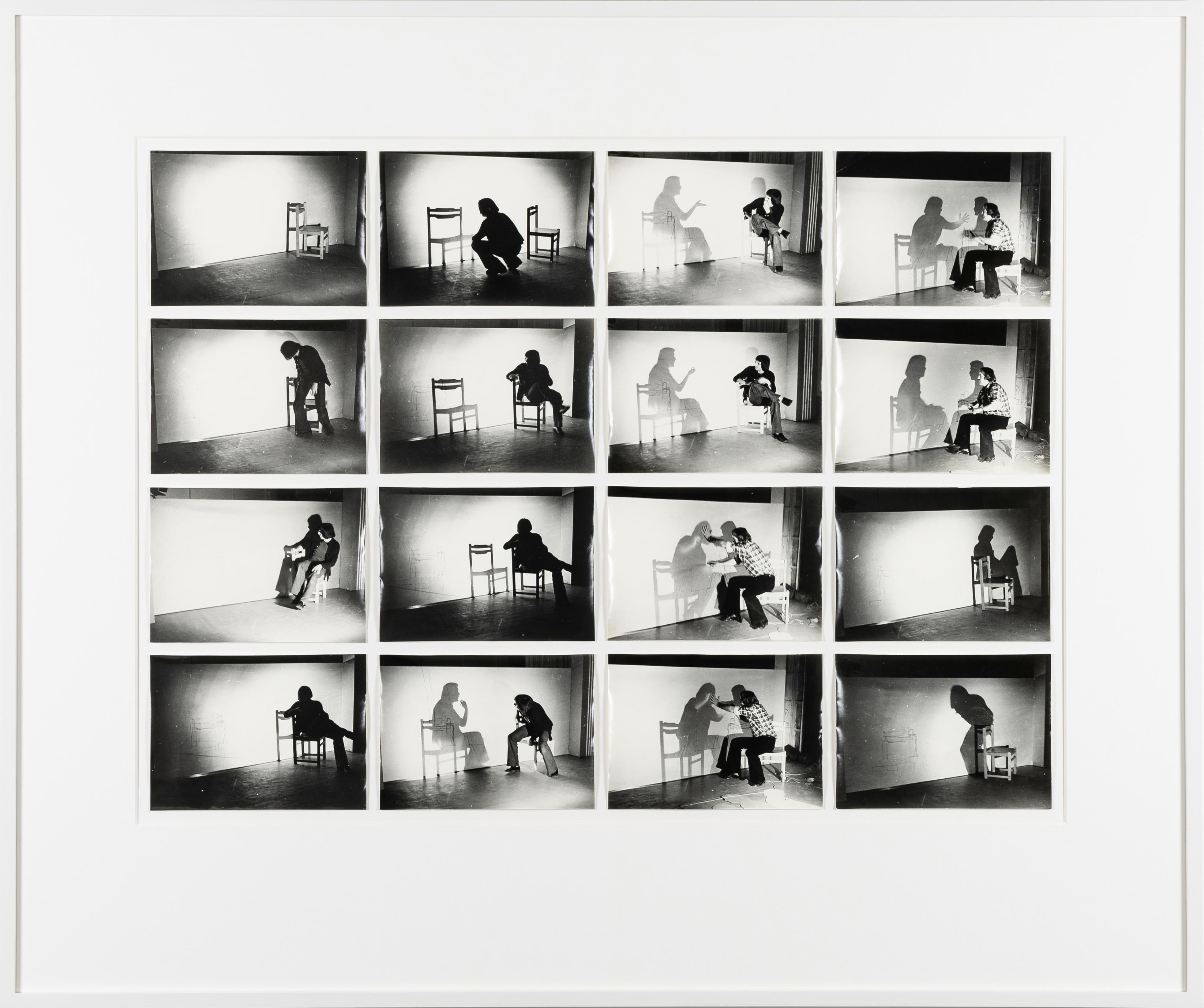 Ferenc Ficzek, Shadowchange, ca. 1977, silver gelatin print, 16 prints, 13 x 18 cm each. Photo: Jan Hecl
