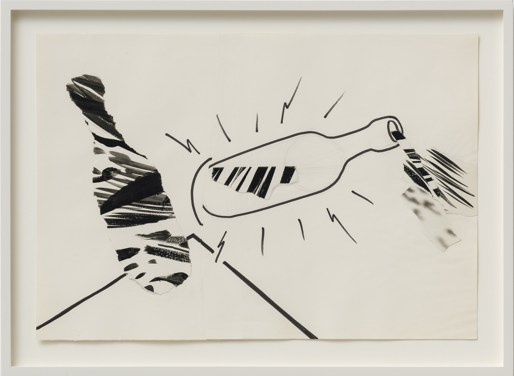 Ferenc Ficzek, Untitled, not dated, ink, paper collage, 31 x 45 cm. Photo: Marcus Schneider