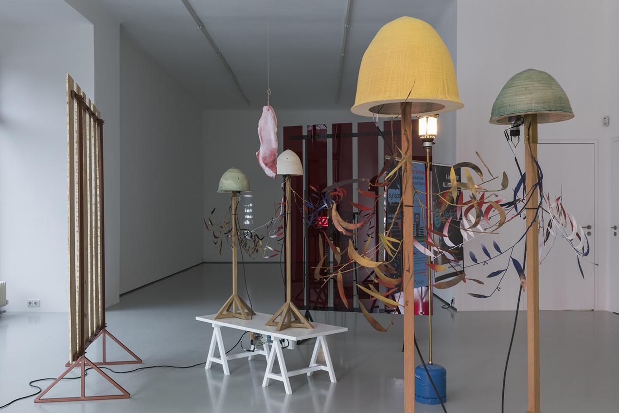Francisco Tropa, Der im Bart versteckte Schnauzbart - das Herz und die Lunge, exhibition view, Gregor Podnar, Berlin, 2020. Photo: Marcus Schneider