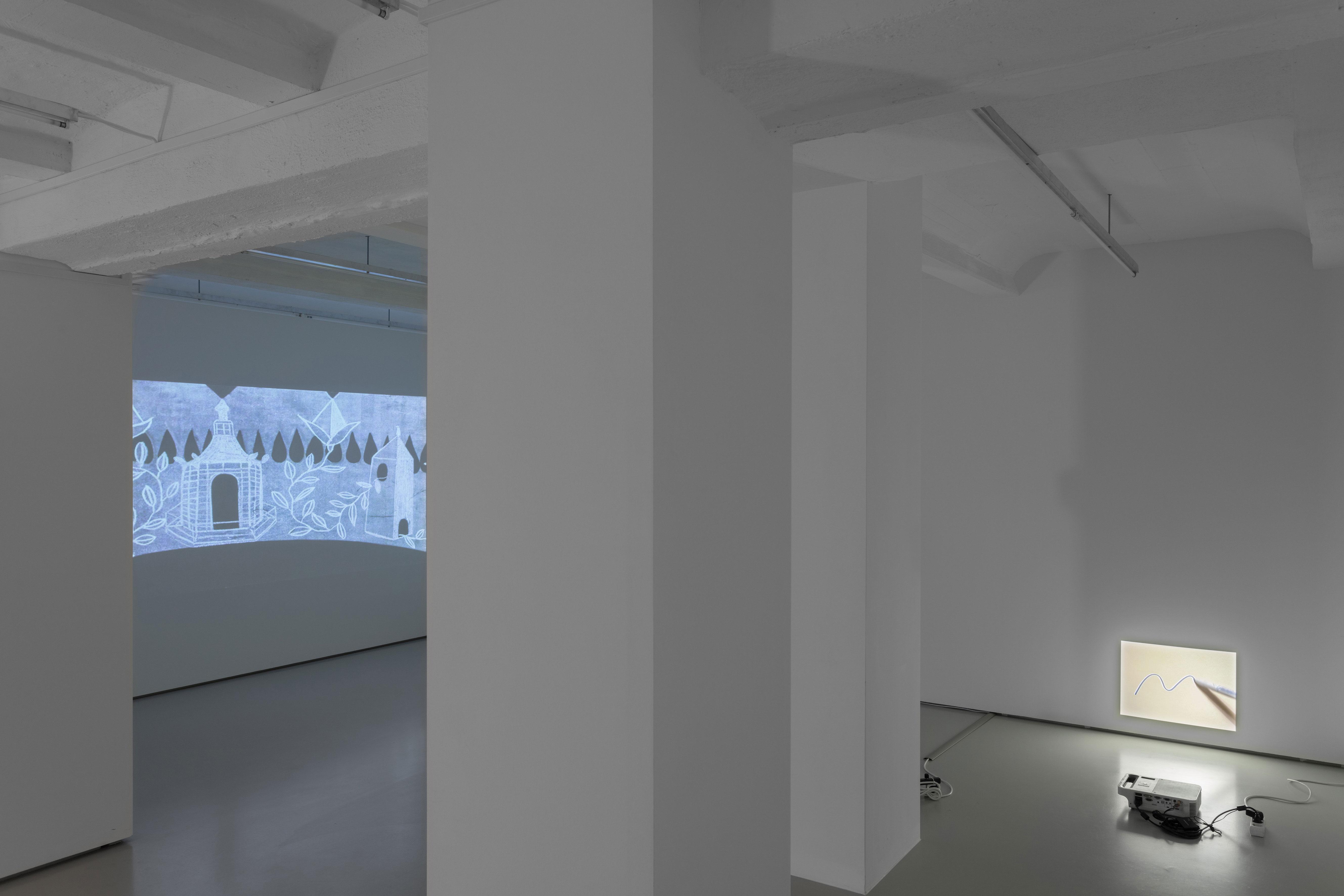 Mladen Stropnik with Jen Liu and Marko Tadic, 13 fifteen, exhibition view at Gregor Podnar, Berlin, 2020. Photo: Marjorie Brunet Plaza